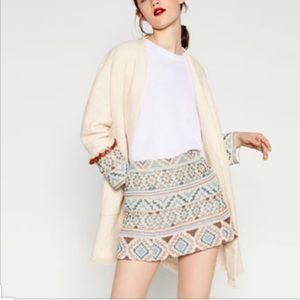 Zara Tribal Sleeves Linen Long blazer